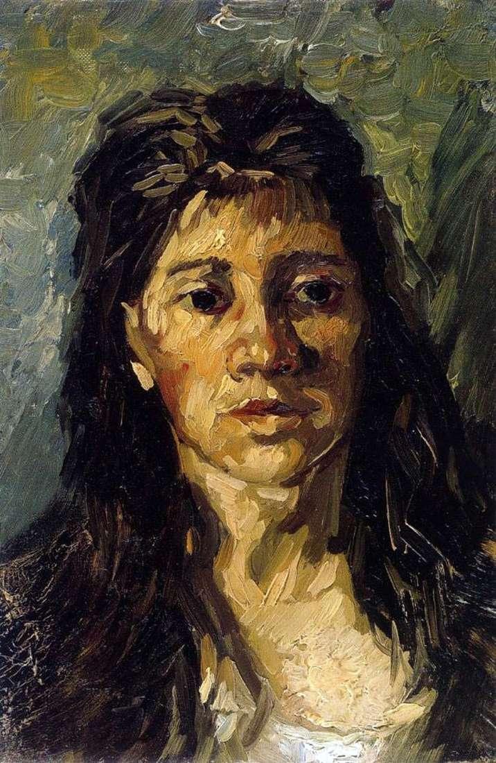 Portret kobiety z włosami   Vincent van Gogh