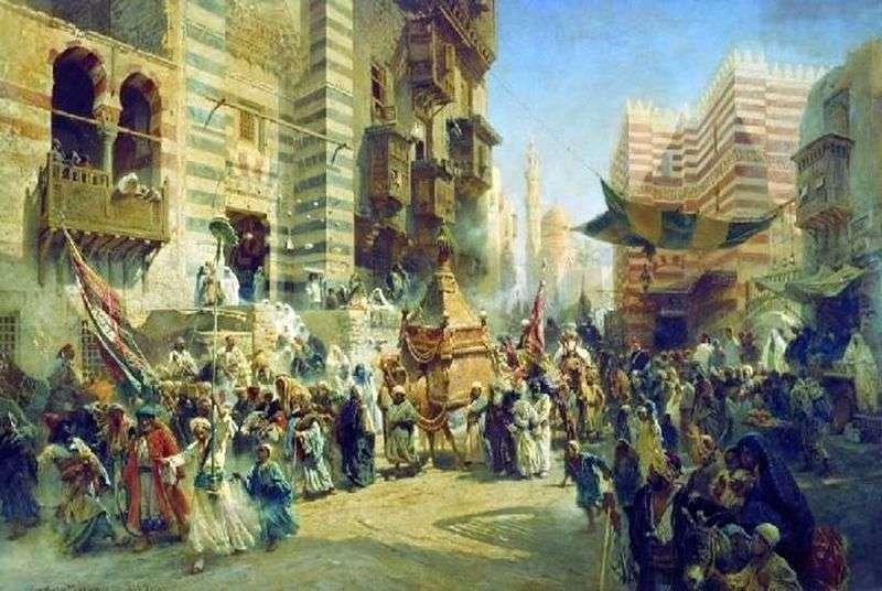 Przeniesienie świętego dywanu w Kairze   Konstantin Egorovich Makovsky