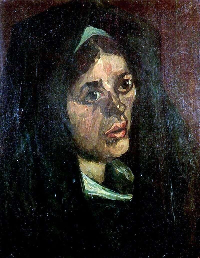 Portret wieśniaczki w zielonym szalu   Vincent Van Gogh
