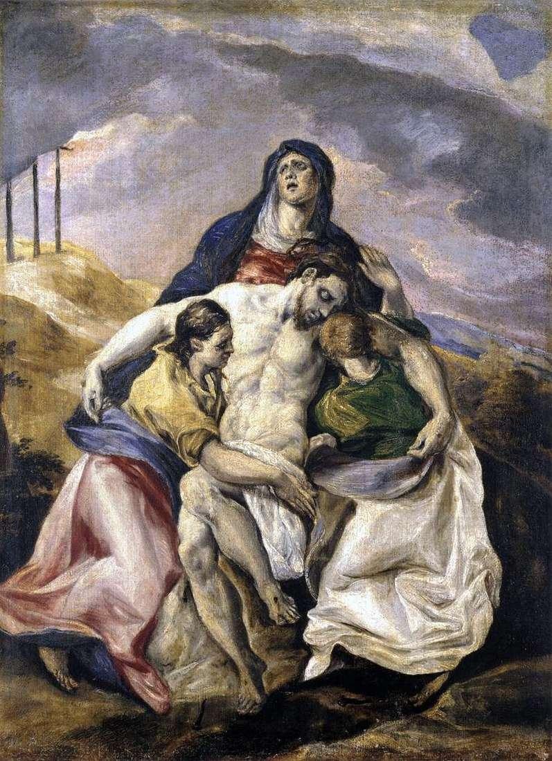 Pieta, czyli Lamentacja Chrystusa   El Greco