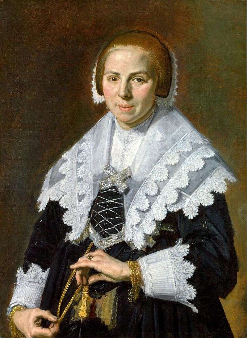 Pani z fanem   Frans Hals