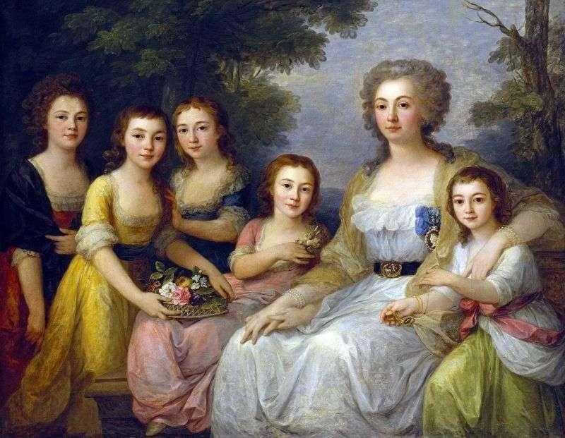 Hrabina Anna Protasova z siostrzenicami   Angelika Kaufman