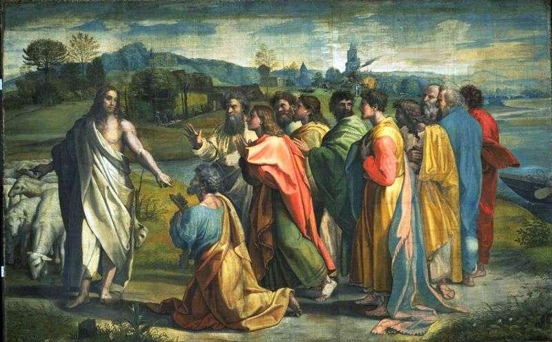 Wołanie Apostoła Piotra przez Chrystusa   Rafael Santi