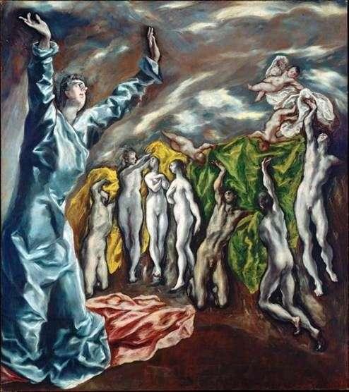 Otwarcie piątej pieczęci   El Greco