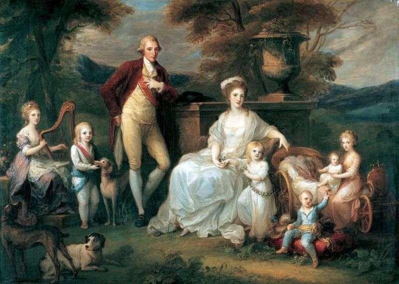 Król Ferdynand IV z rodziną   Angelika Kaufman