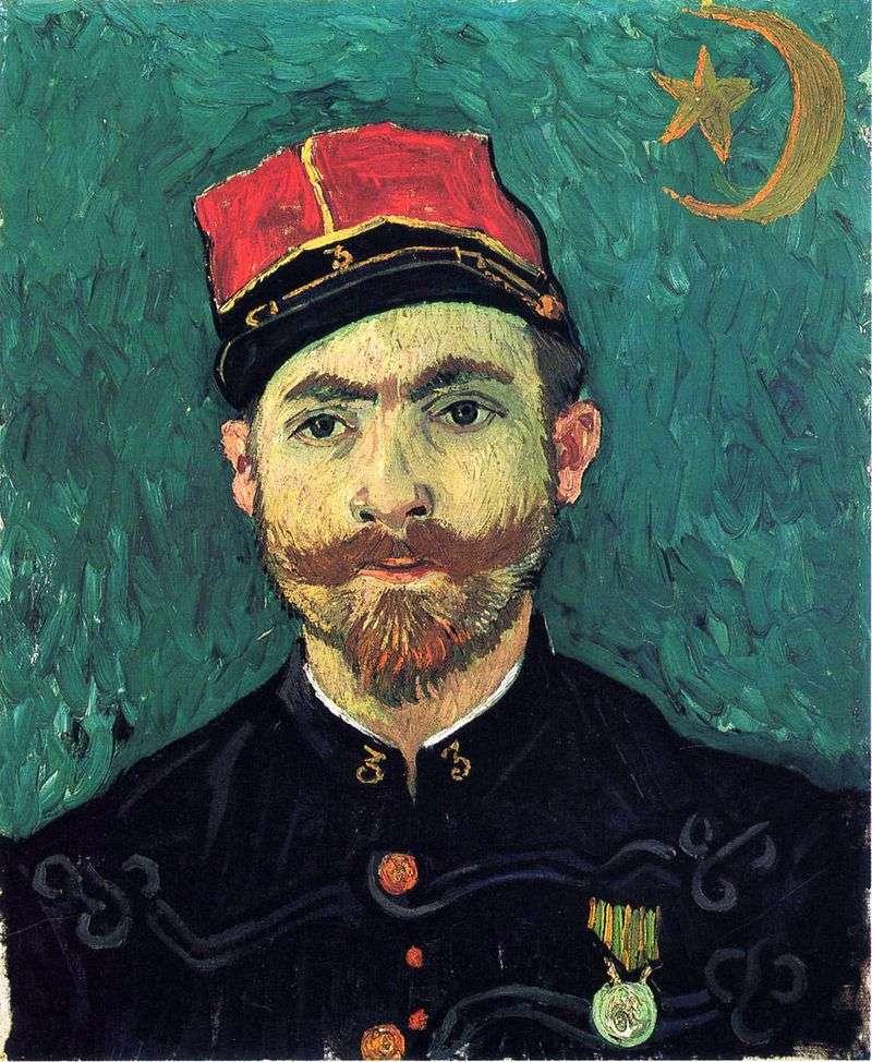 Portret Milleta, podporucznika pułku Zouava   Vincenta Van Gogha