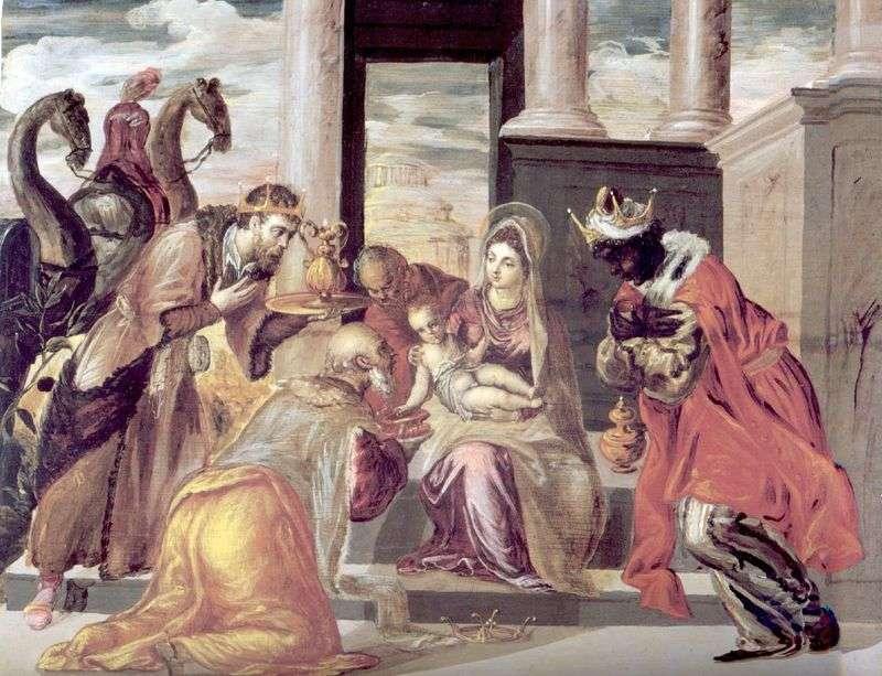 Adoracja Trzech Króli   El Greco