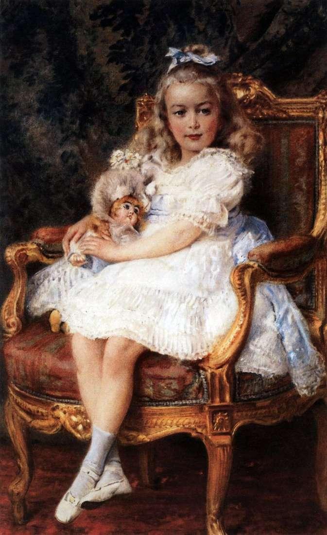 Portret Wielkiej Księżnej Marii Nikołajewnej   Konstantin Makowski