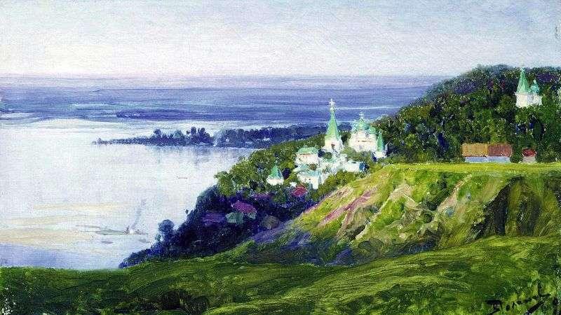 Klasztor nad rzeką   Wasilij Polenow