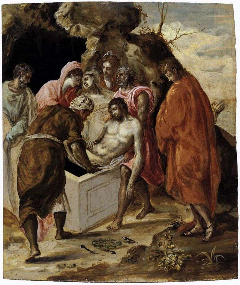 Pozycja Chrystusa w grobie   El Greco