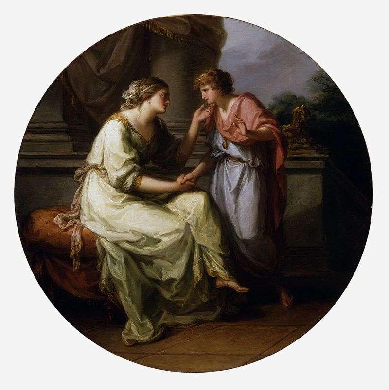 Papiriusz, błagając swoją matkę o ujawnienie tajemnicy   Angelika Kaufman