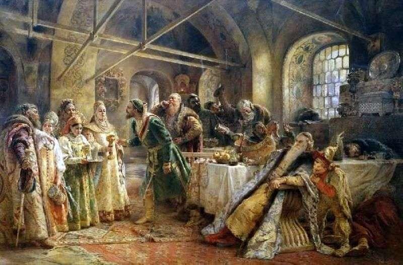 Rytuał całowania (święto bojara Morozowa)   Konstantin Makowski