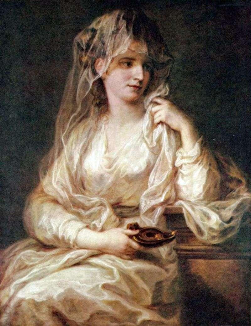 Portret Damy w Vestal Robe   Angelika Kaufman