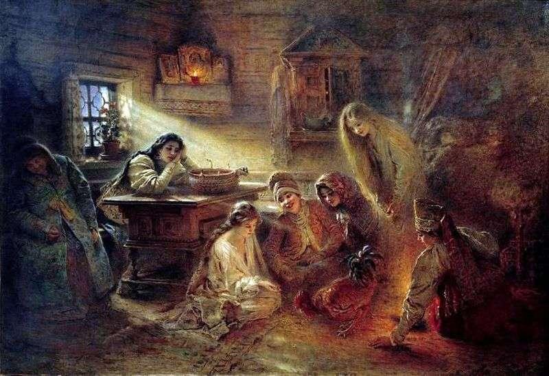 Svetochnye divination   Konstantin Makovsky