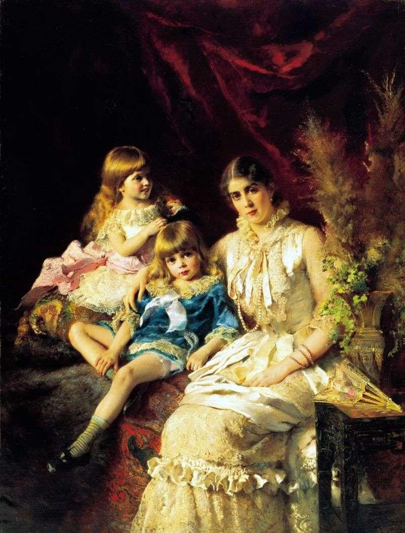 Portret rodzinny   Konstantin Makovsky