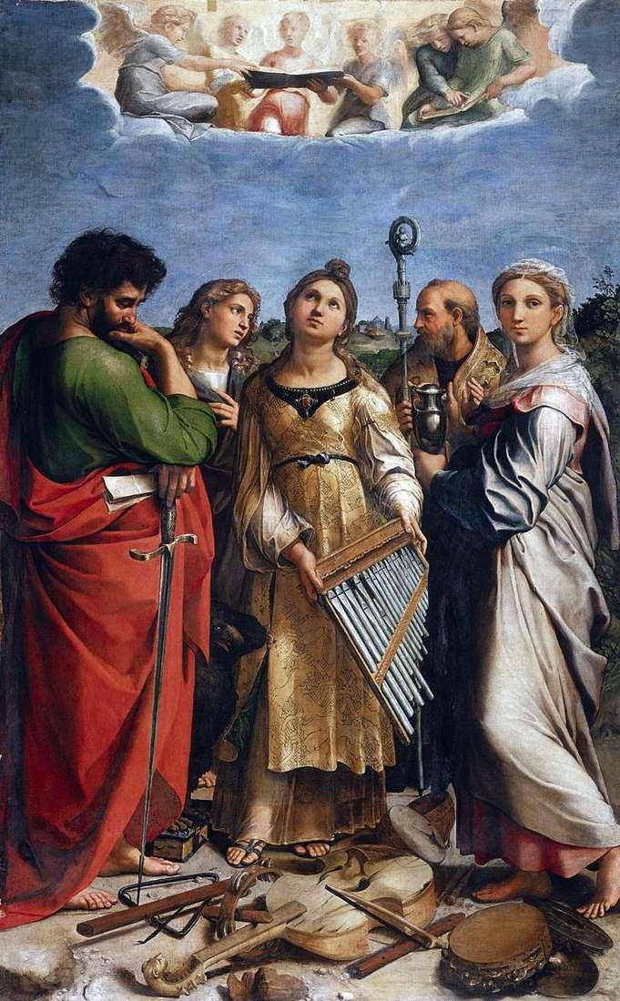 Saint Cecilia   Rafael Santi