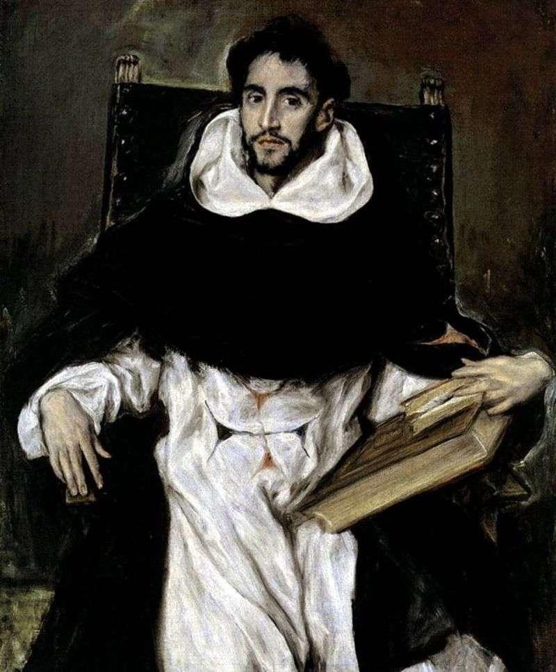 Portret mnicha Ortencio Paravisino   El Greco