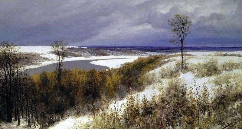 Wczesny śnieg   Wasilij Polenow