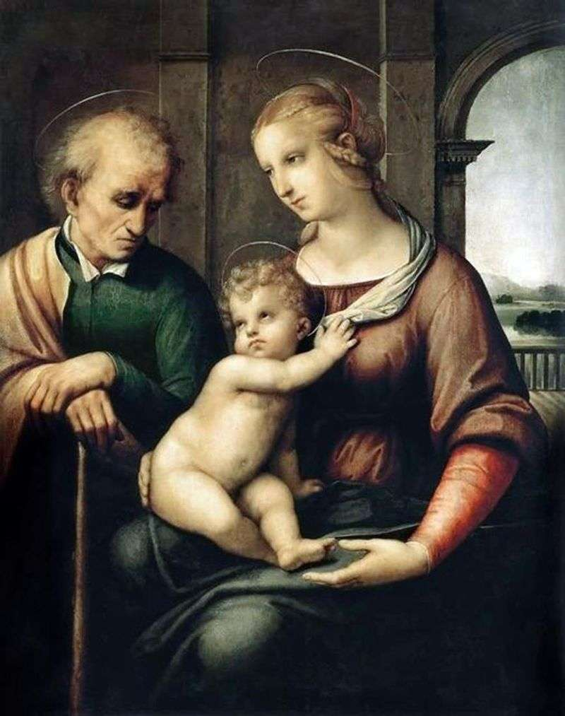 Święta Rodzina lub Madonna z Bezmózgim Józefem   Rafael Santi