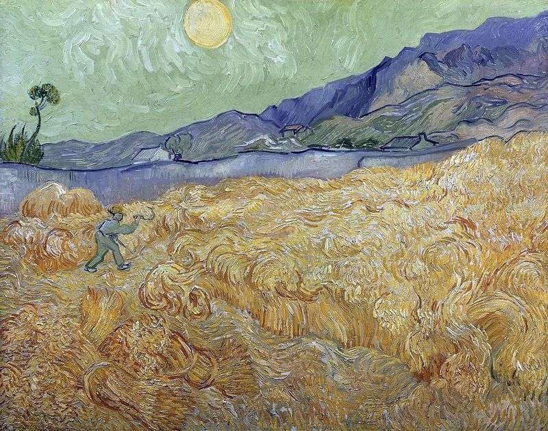 Dawn Wheatfield and Reaper II   Vincent Van Gogh