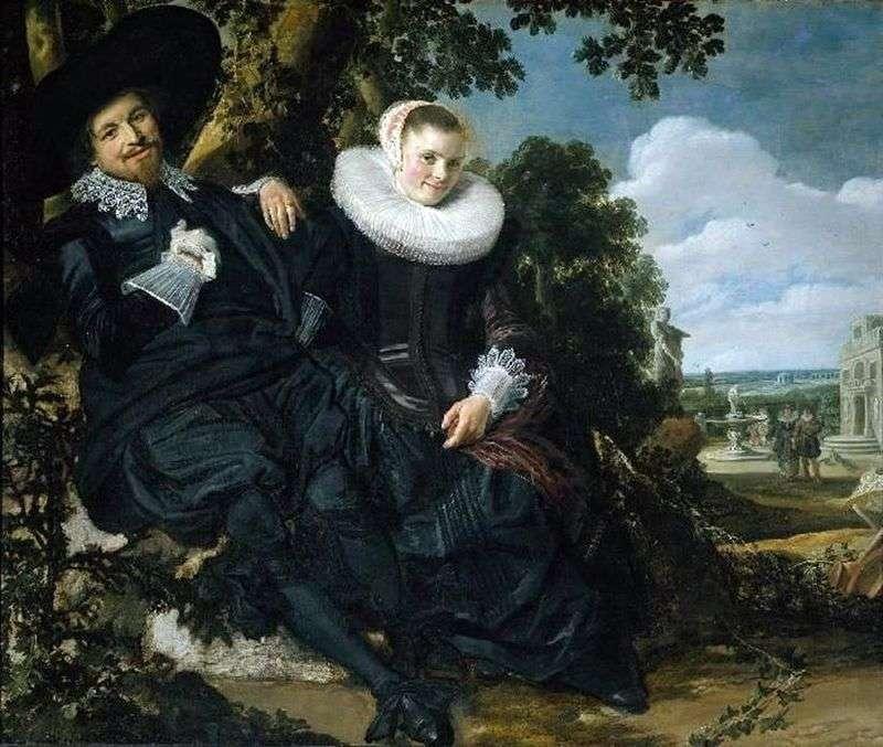 Portret rodzinny Isaaca Massy i jego żony   Fransa Halsa