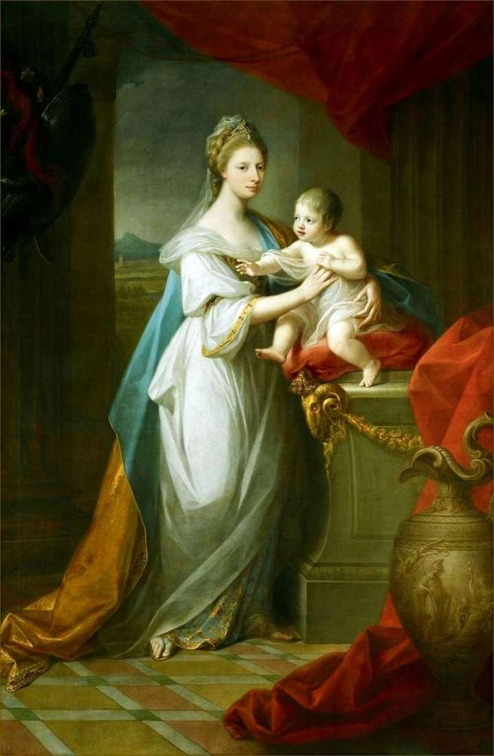 Księżna Walii August z Hanoweru i jej syn   Angelika Kaufman