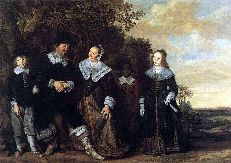 Portret rodzinny w krajobrazie   Frans Hals