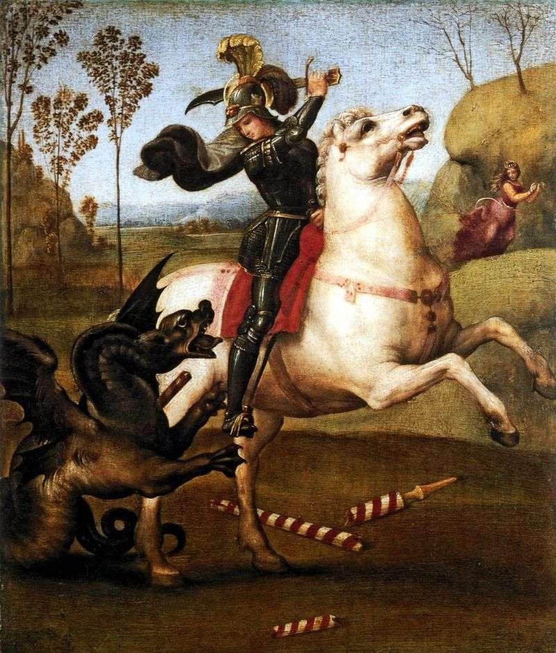 Święty Jerzy i smok   Rafael Santi