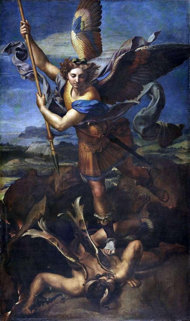 Święty Michał i Diabeł   Rafael Santi