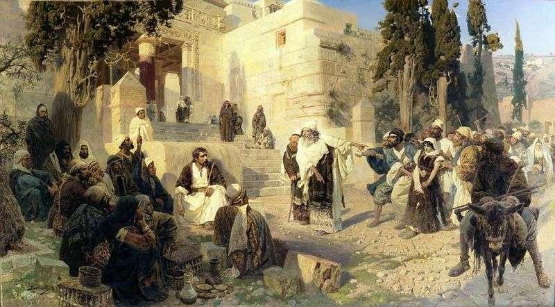 Chrystus i grzesznik   Wasilij Polenow