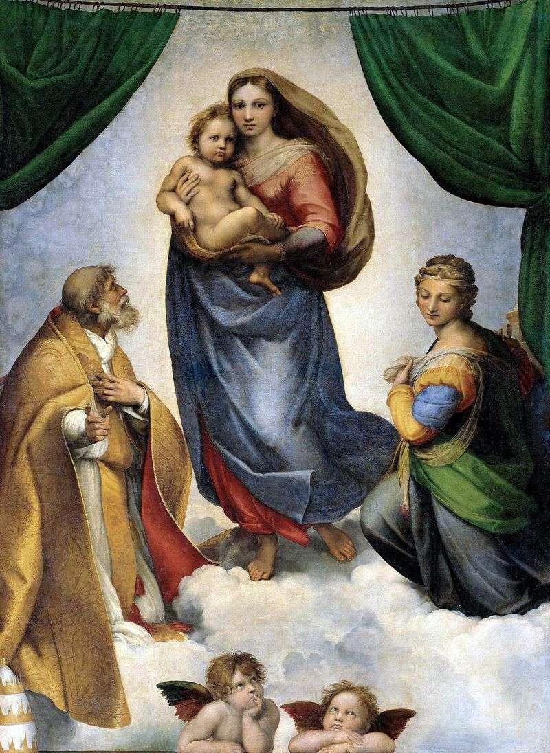 Sistine Madonna   Rafael Santi