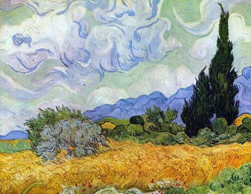 Pole pszenicy z cyprysem   Vincent Van Gogh