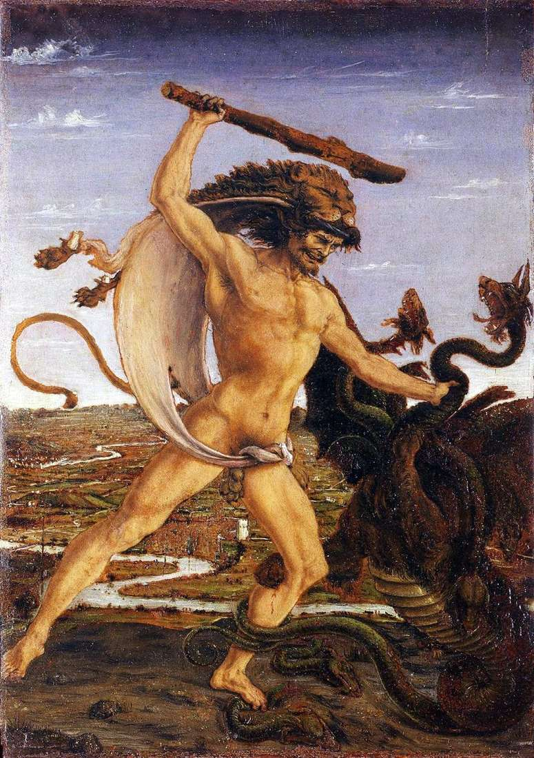 Hercules and the Hydra   Antonio del Pollaiolo