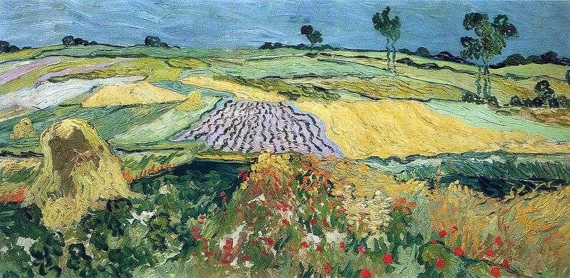 Pola pszenicy, Over plain   Vincent Van Gogh