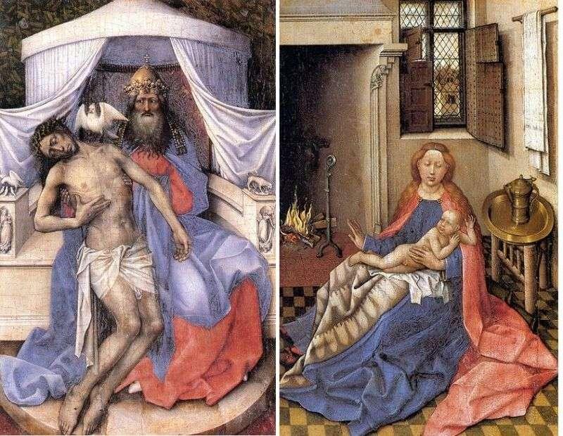 Trinity. Madonna z Dzieciątkiem (dyptyk)   Robert Kampen