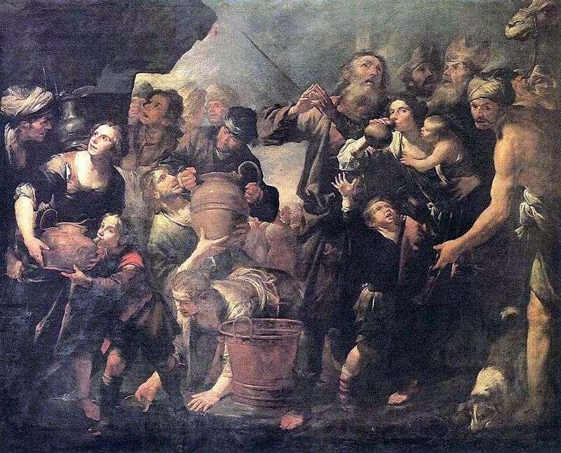 Mojżesz wydobywczy ze skały   Gioacchino Assereto