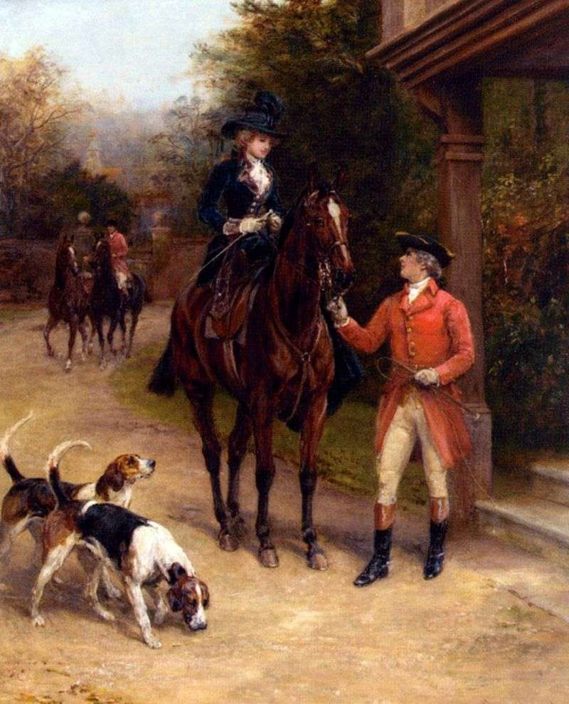 Morning Hunt (Horsewoman)   Heywood Hardy