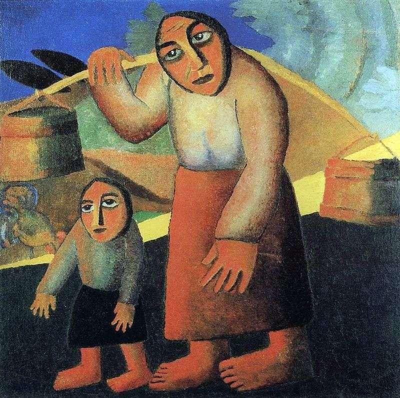 Chłopka z wiadrami   Kazimierz Malewicz