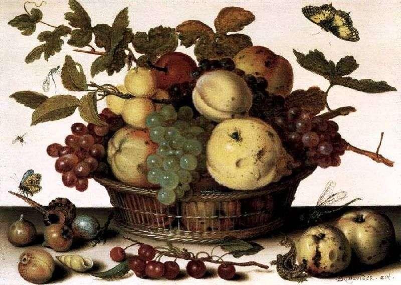 Kosz z owocami   Balthazar van der Ast