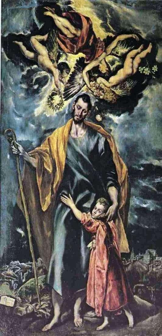 Święty Józef z młodym Chrystusem   El Greco