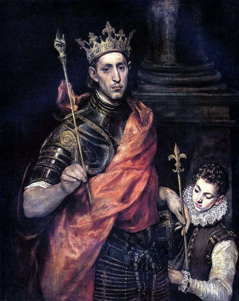 Saint Louis, król Francji i strona   El Greco