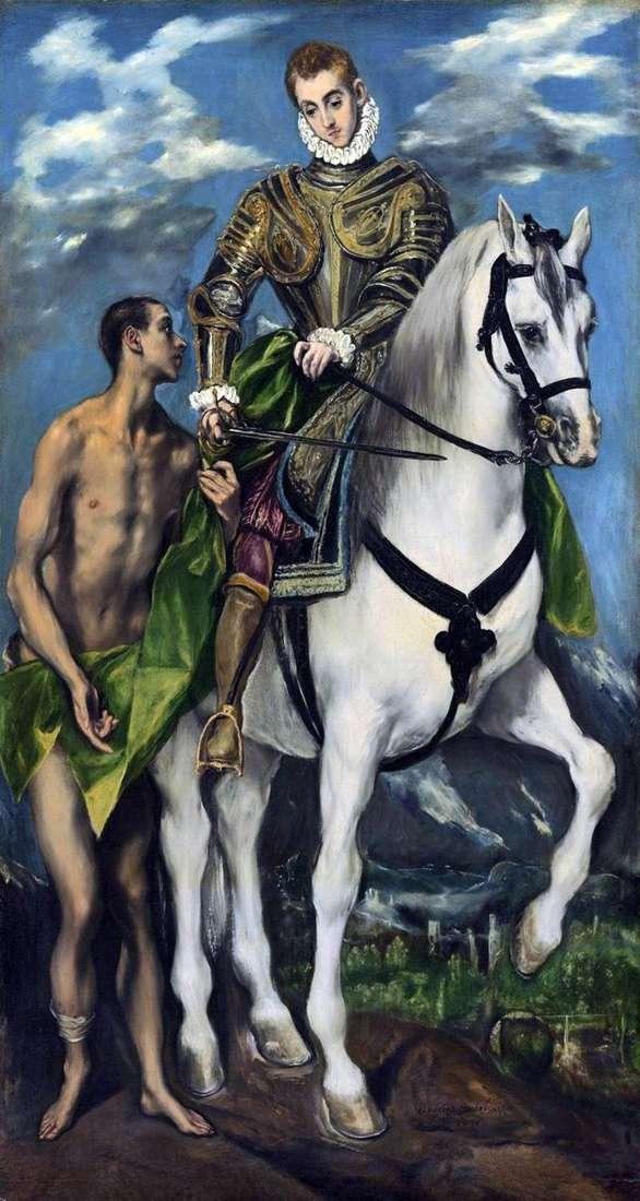 Święty Marcin i żebrak   El Greco
