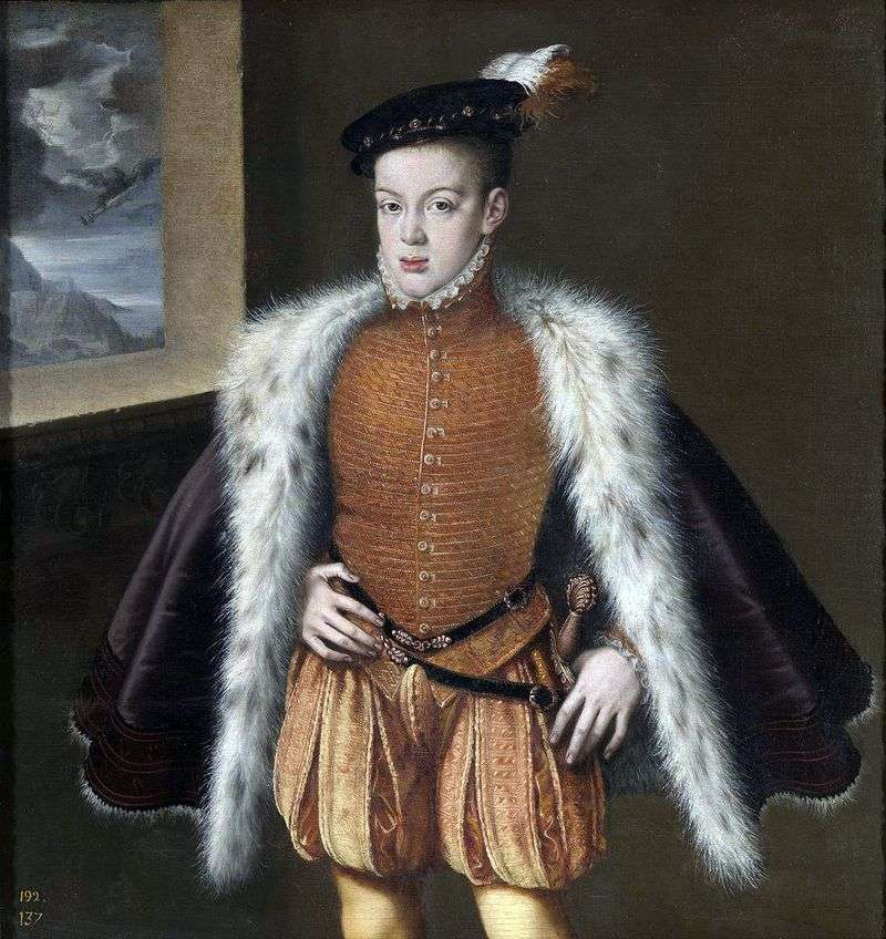 Portret infantki Carlosa   Alonso Sanchez Coelho