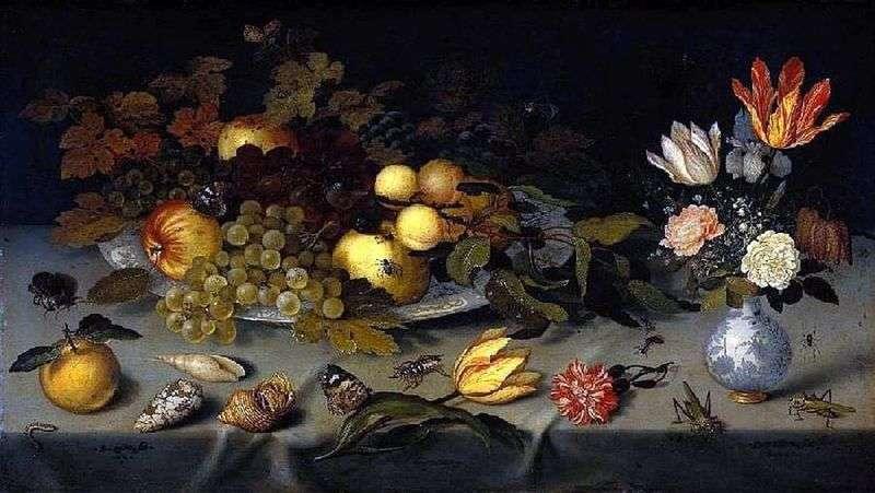 Kwiaty i owoce   Balthazar van der Ast