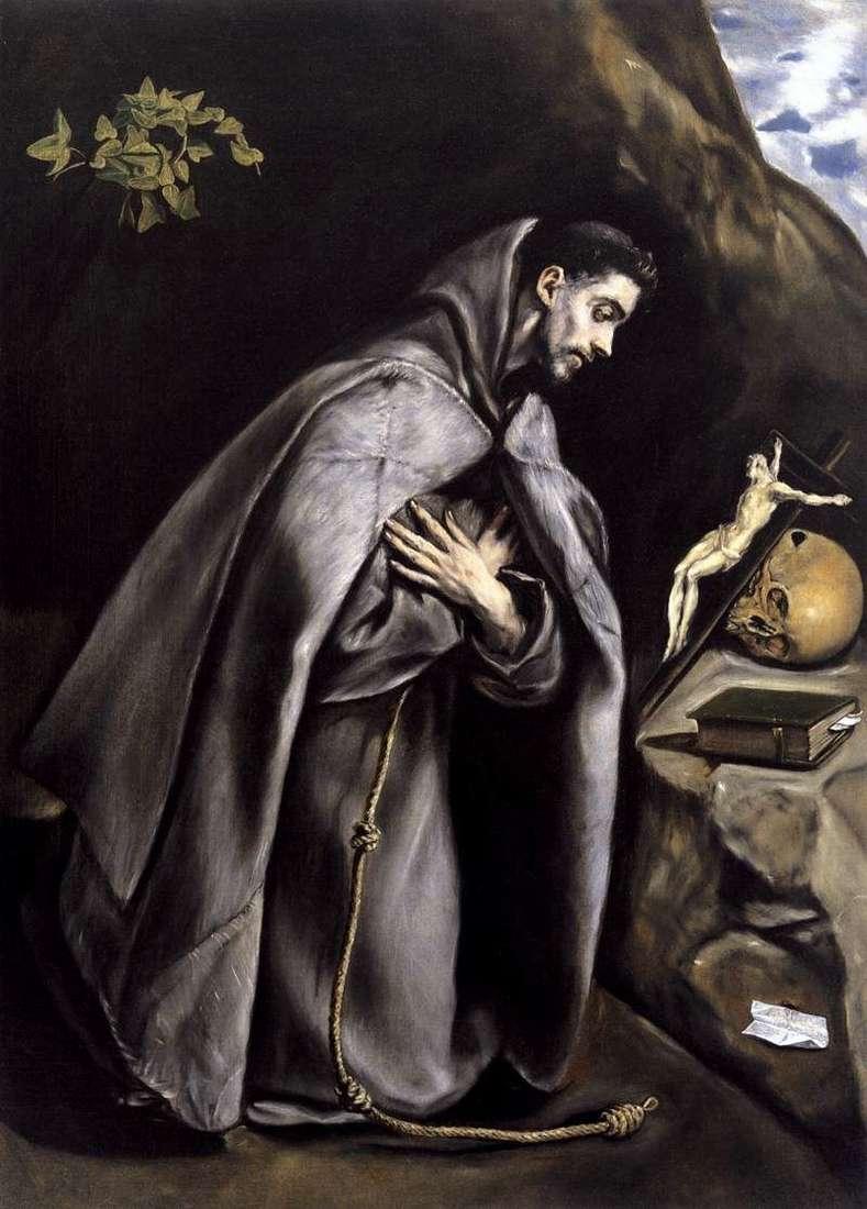 Święty Franciszek w ekstazie   El Greco