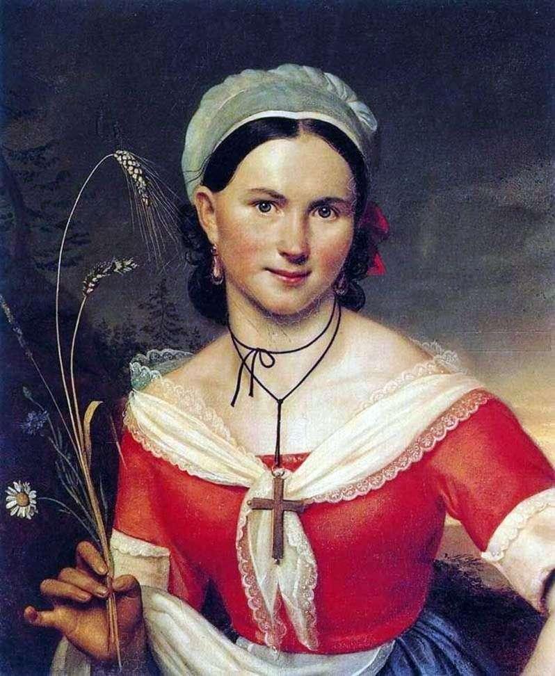 E. A. Teleshova jako Zelia   Orest Kiprensky