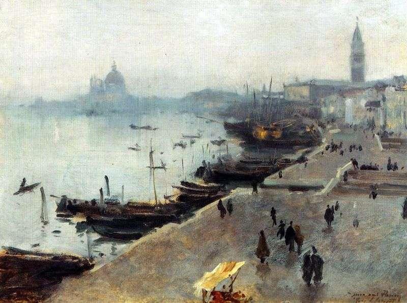 Widok Wenecji w pochmurny dzień   John Sargent