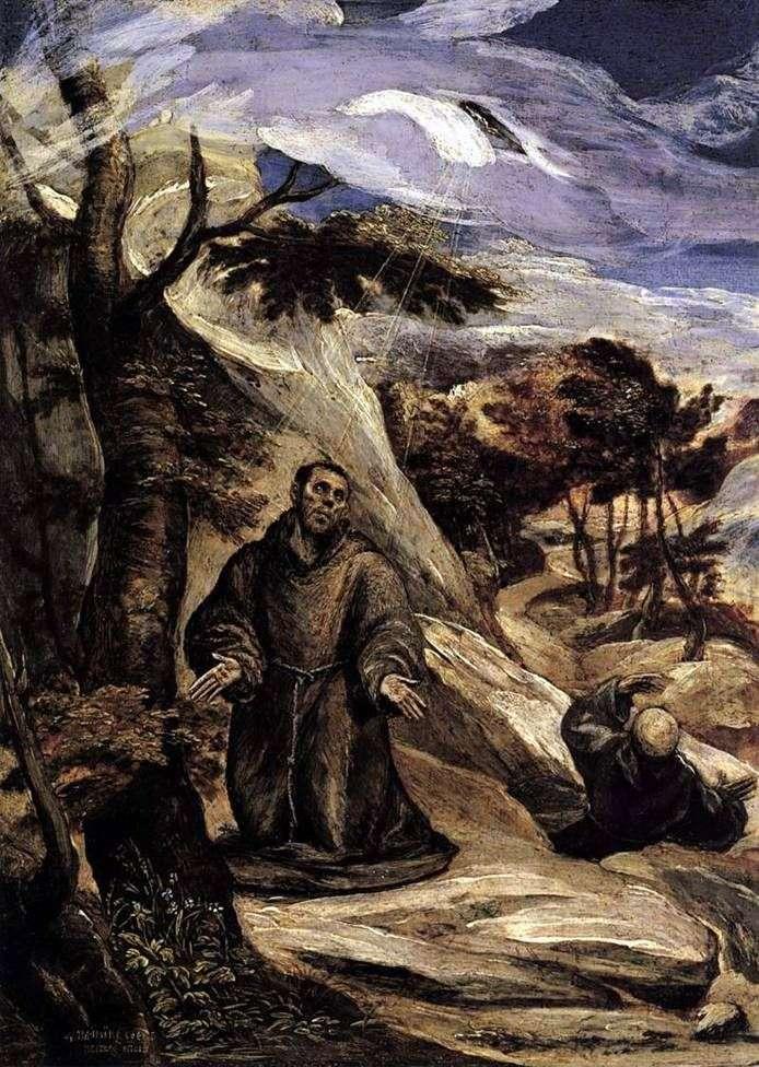 Stygmatyzacja św. Franciszka   El Greco
