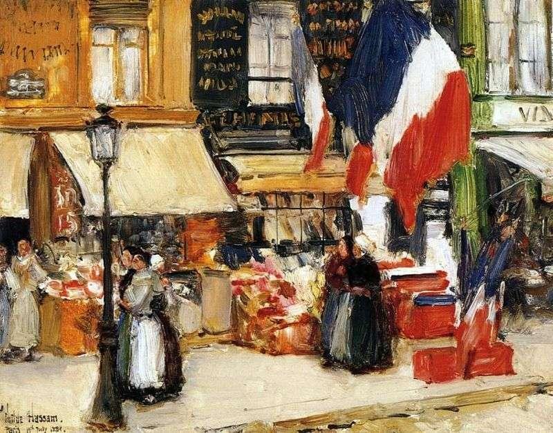 Dzień Bastylii, Paryż   Dziecko Hassam