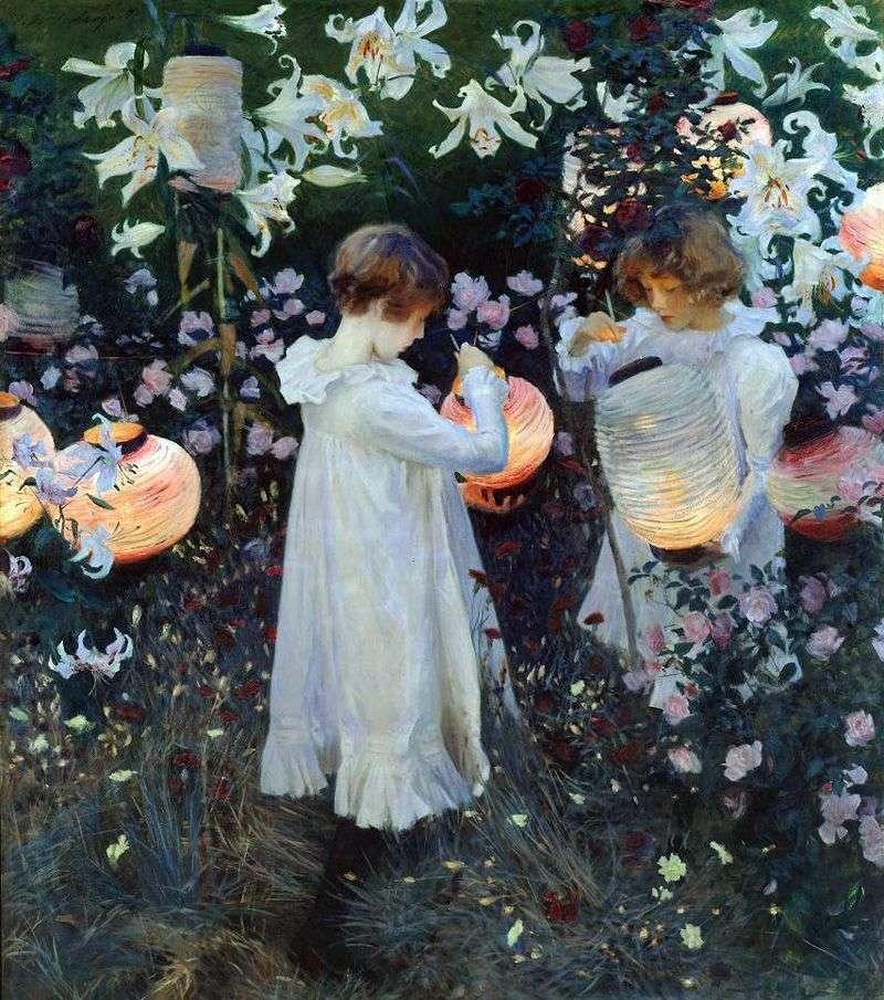 Goździk, Lily, Lily, Rose   John Sargent